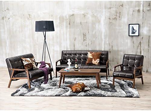Baxton Studio 3-Piece Mid-Century Masterpieces Sofa Set