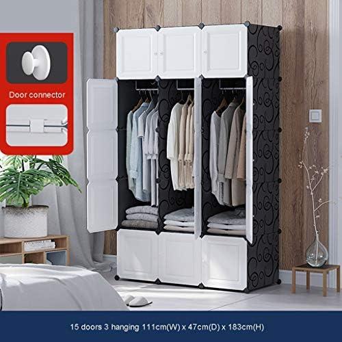 Moderna portátil Armario, DIY 15 Cubo Armario con Barra Colgante, Juguetes Organizador del almacenaje de los gabinetes, fácil Montaje LIFFMallJC: Amazon.es: Hogar
