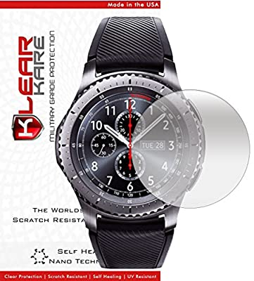 [6 - Pack ] KlearKare Invisible Screen Shield Protector for Samsung Gear S3 Watch   (HD) Clear   Self Healing Nano Technology   Bubble Free ... from KlearKare