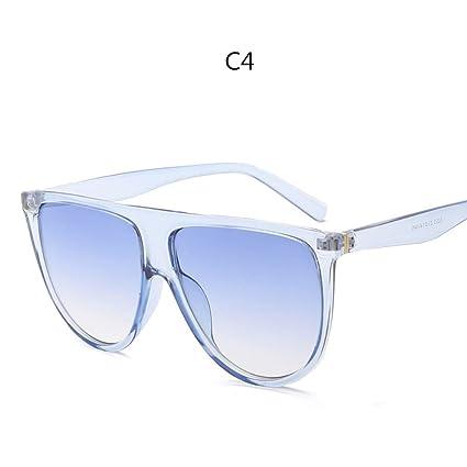 MOJINGYAN Gafas de Sol Parte Superior Plana Delgada señoras ...