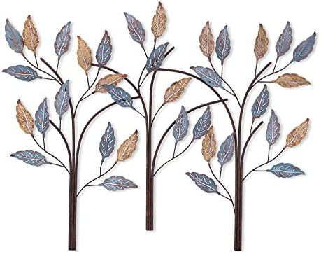 Asense Tree of Life Metal Wall Art Sculptures Home Decor Life Decoration