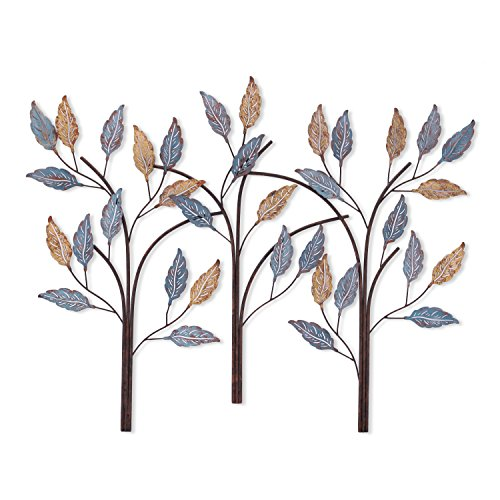 Branch Wrought Iron (Adeco Tree Branch Leaves Metal Wall Decor Home Kitchen Bedroom -34x26 Inches (Tree I))