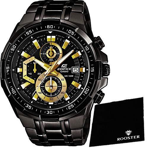 [해외]【 세트 】 [카시오] CASIO 손목시계 EDIFICE에 디피 스 크로 노 그래프 EFR-539BK-1A 남성 & ROOSTER 마이크로 화이버 15 × 15cm 된 [병행 수입품] / Set Casio CASIO Watch Edifice Edition chronograph EFR-539BK-1A mens & Rooster Microfiber ...