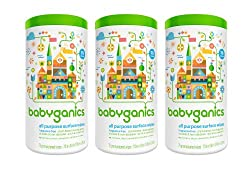 BabyGanics All-Purpose Surface Wipes, Unscented, 75 Count (Pack of 3)
