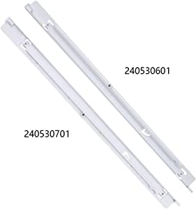 AMI PARTS 240530601&240530701 Refrigerator Drawer Hanger(Left+Right), Compatible with Frigidaire Kenmore