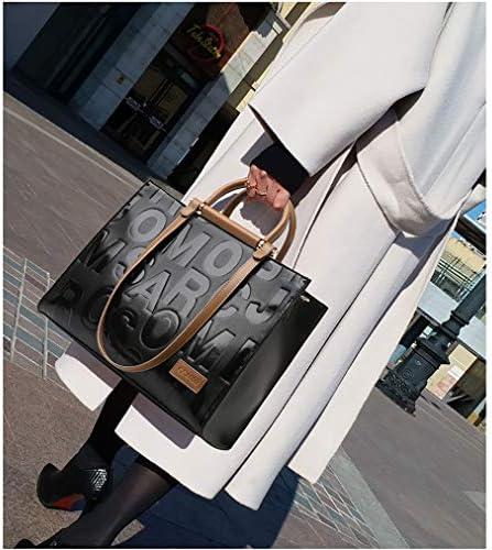 BAACD Sacs à main pour femmes filles en cuir cadeau de mode rétro sac à bandoulière noir taille moyenne Voyage grande capacité stockage quotidien maquillage portefeuille