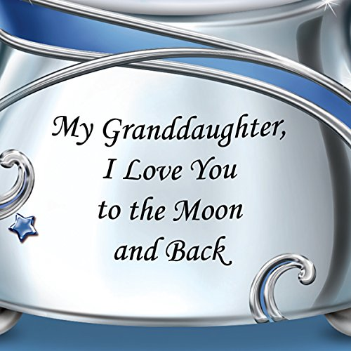 Snowglobe With Swarovski Crystal For Granddaughter Plays Always In My Heart by The Bradford Exchange by Bradford Exchange (Image #2)