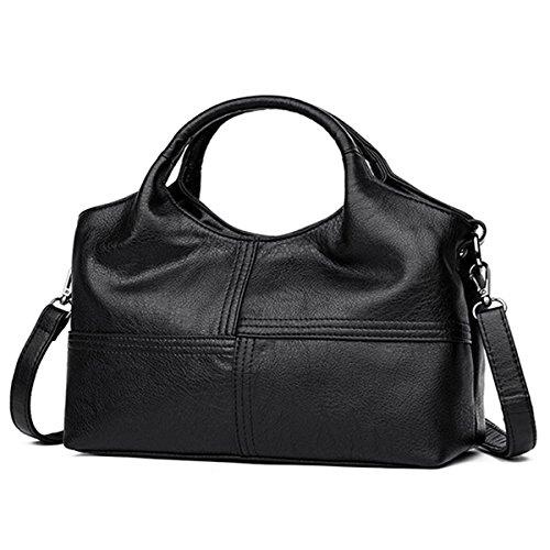 Hobo PU E Large Ekphero Fashion Bags Tote Black Bags Capacity Bags Women Handbags Shoulder Leather xw0gBI