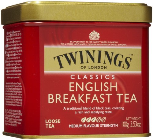 - Twinings English Breakfast Tea, Loose Tea, 3.53 oz Tins