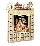 Small Foot Winter Dream Wooden Advent Calendar, Wood Beige, 34 x 7.5 x 52 cm