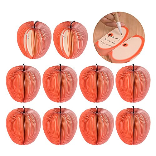 T-Trees 10pcs/pack Cute Notes Creative DIY Apple Fruit Memo Pads Scratch Paper School Office Supplies Stationery Children Gift