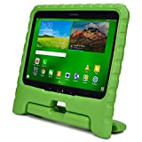 Samsung Galaxy Tab 4 10.1 & Tab 3 10.1 kids case, COOPER DYNAMO Rugged Heavy Duty Children Boys Girls Drop Proof Protective Case Cover Handle, Stand SM-T530 T531 T535 GT-P5200 P5210 P5220 Green