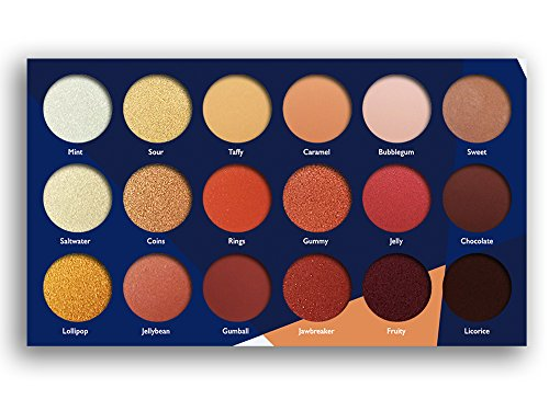 18 Super Pigmented - Top Influencer Professional Eyeshadow Palette all finishes, 5 Matte + 9 Shimmer + 4 Duochrome - Buttery Soft, Creamy Texture, Blendable, Long Lasting (Candy Peaches)