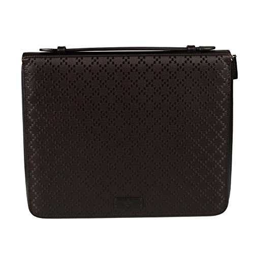 Gucci Deep Brown Zip Around Leather Portfolio Tablet Case by Gucci