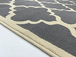 Amazon Com Rugstylesonline Modella Collection Trellis Modern Area Rug Rugs Gray Furniture Decor