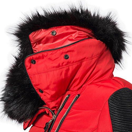 XXL sintetica Colori Navahoo nera cappuccio invernale Yuki2 8 pelliccia Red giacca in da donna XS con SwS6Rxz7q
