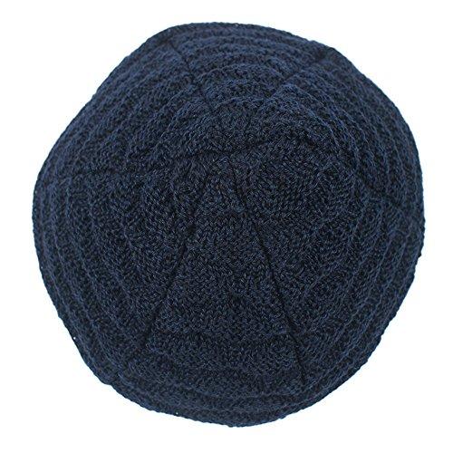 Slouchy de gorrita negro terciopelo casquillo calientan de Las rayas de del tejida Skully la de escala de la pescados unisex BaronHong del Sombrero wqnSFOg