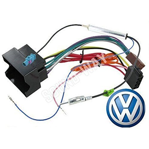 Adaptador de VW-Cable con conector ISO para radio de coche EOS/VW TOURAN/CADDY adaptador de antena amplificado fakra Sound-Way