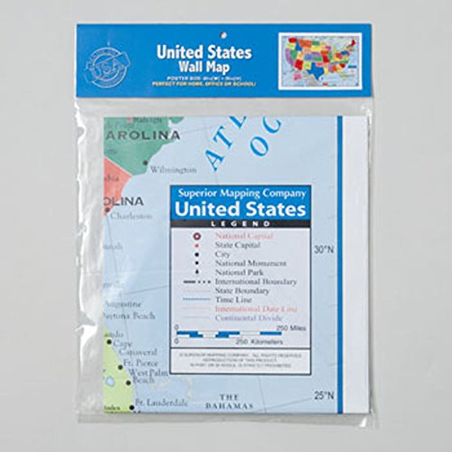 Superior Mapping Company United States Poster Size Wall Map X - Map of the us poster size
