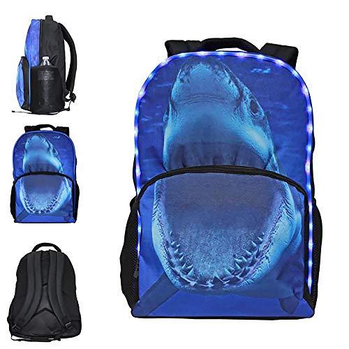 3-D Wildlife LED Light-Up Backpack - Bookbag For Kids - Shark