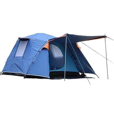 SZH&ZPT double couche antiusure tente bleue pour la famille 3-4 personnes fournitures de camping en plein air