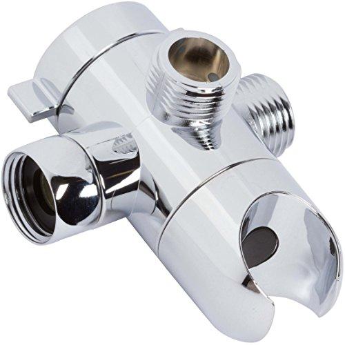 Shower Arm Diverter - Three-Way Diverter For Shower Head And Handheld Showerhead Mount - Indoor And Outdoor Modern Bath Spa Fixture - Aqua Elegante - - Diagram Arm