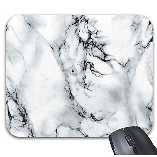 Price comparison product image Starings Mouse Pads White Marble Print Natural Mouse Mat 9 X 7.5In