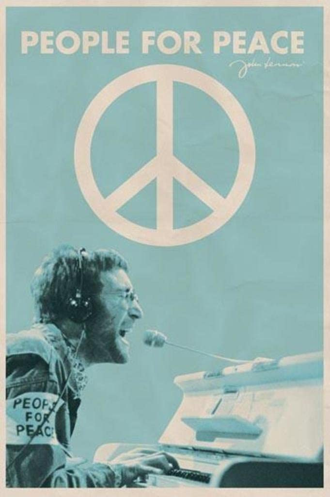 John Lennon People for Peace Cool Wall Decor Art Print Poster 24x36