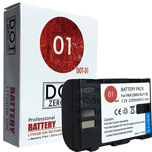DOT-01 Brand Panasonic Lumix DMC-GH5S Battery for Panasonic Lumix DMC-GH5S Mirrorless and Panasonic GH5S Battery Bundle for Panasonic BLF19 DMW-BLF19 by DOT-01