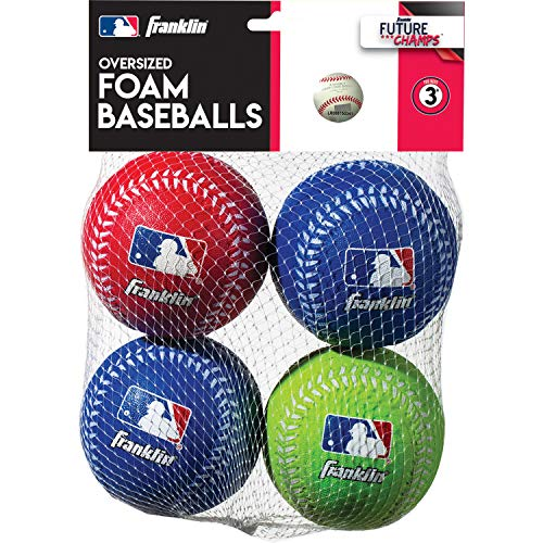 Soft Practice Baseballs - Franklin Sports Oversized Foam Baseballs