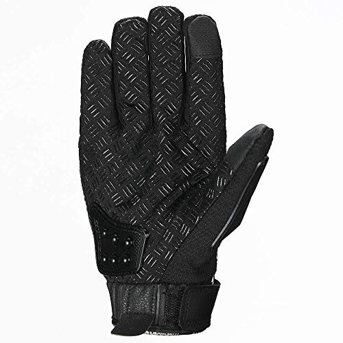 oubaiya Steel Outdoor Reinforced Brass Knuckle Motorcycle Motorbike Powersports Racing Textile Safety Gloves (Black, X-Large) by oubaiya (Image #8)