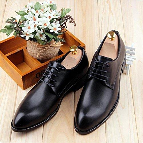 atmungs Solide Lace up Mens Hochzeit Formelle Tipp PU Leder Flache Dress Shoes New Schwarz