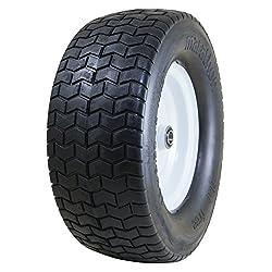"Marathon 16x6.50-8"" Flat Free Tire on Wheel,"