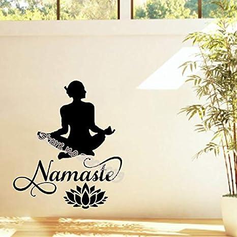 fancjj Etiqueta de la Pared de Loto Meditar Yoga Pose de Loto ...