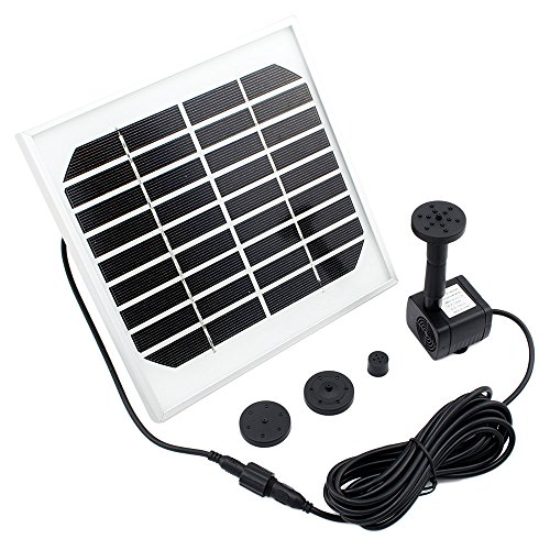 Iwishlight solar powered garden water fountain pond pump for Solar water pump pond