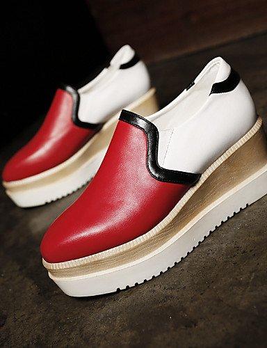 Creepers Décontracté Chaussures Bout Black Uk4 Habillé Rouge Njx Extérieure Bottine Cn36 Femme us6 Blanc Eu36 Fermé Plateforme Noir Richelieu 4fpxz4qn