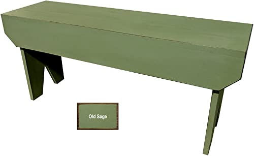 Sawdust City Wooden Bench 3ft Long Old Sage