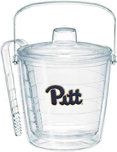 Tervis 1220720 Pittsburgh Panthers Primary Logo Ice Bucket with Emblem and Clear Lid 87oz Ice Bucket, Clear (Ice Tervis Bucket)