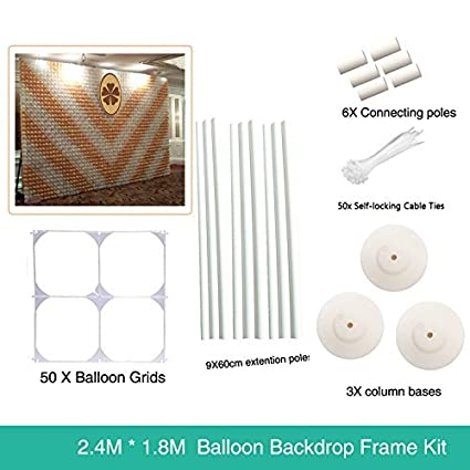 7 8 ft x 6 ft Latex Balloon Wall Backdrop For Wedding Party