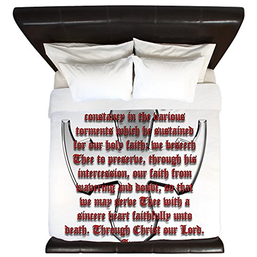 CafePress - St George Shield - King Duvet Cover, Printed Comforter Cover, Unique Bedding, Microfiber by CafePress