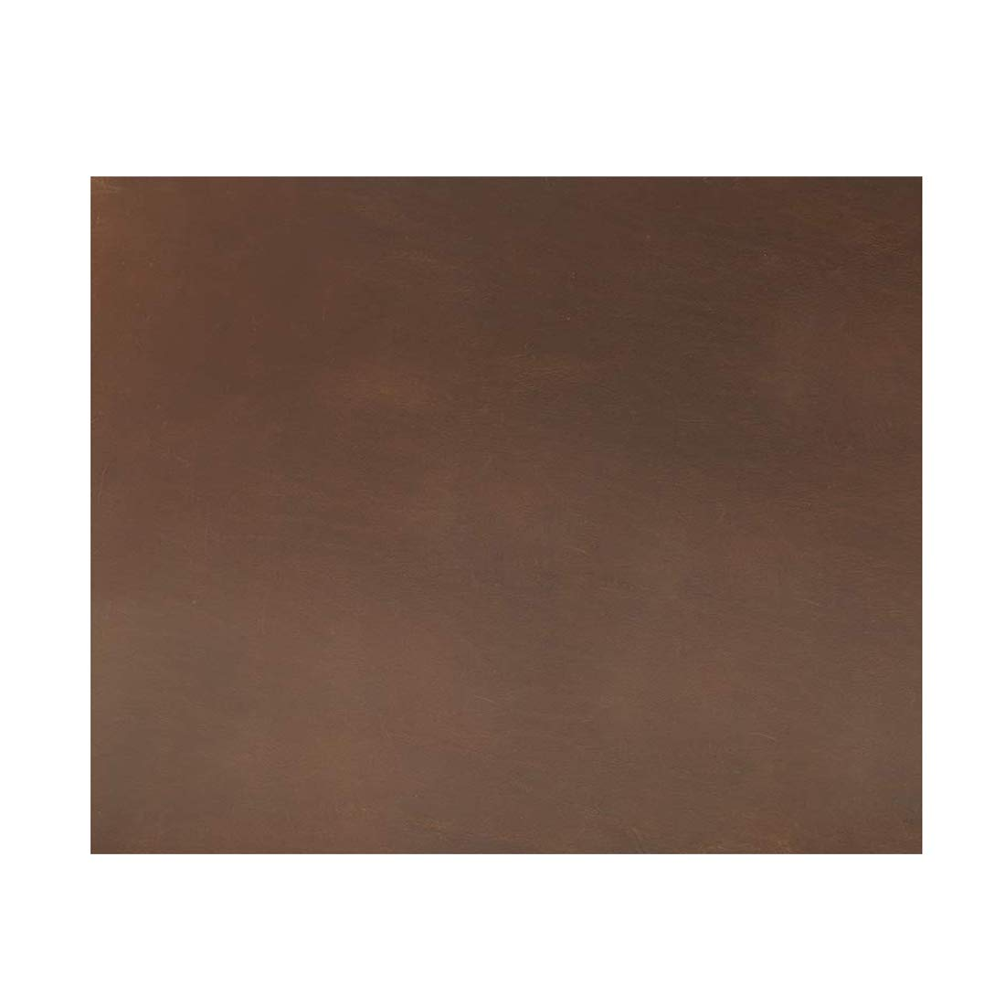 Hide & Drink, Thick Leather Square (16 x 18 in.) for Crafts/Tooling/Hobby Workshop, Heavy Weight (3.5mm) :: Bourbon Brown