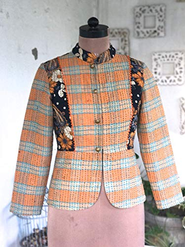 Grace Julian Clarke/Handmade Kantha Short Jacket/Small/kinche