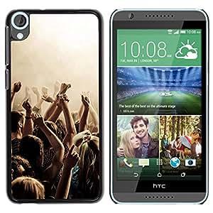 Be Good Phone Accessory // Dura Cáscara cubierta Protectora Caso Carcasa Funda de Protección para HTC Desire 820 // Music Party Punk