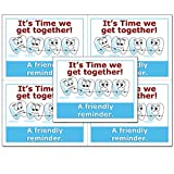 Laser Reminder Postcards, Orthodontist Appointment Reminder Postcards. 4 Cards Perforated for Tear-Off at 4.25'' x 5.5'' on an 8.5'' x 11'' Sheet of 8 Pt Card Stock. DEN122-LZS (10000)