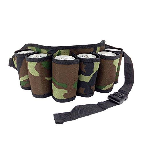 (SUNRIS 6-Pack Beer Belt Outdoor Camping Beer Waistband Picnic Bag Tableware Accessories)