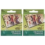 2-PACK - Pioneer Photo Corners Self Adhesive, Clear, 250/Pack