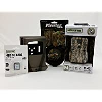 MOULTRIE M-40 IR Trail Camera-Security Box-Python Cable-4GB SD Card