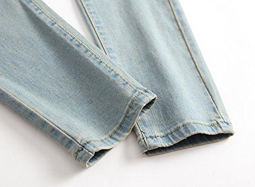 OBT Big Boy's Vintage Ripped Skinny Destroyed Stretch Slim Distressed Jeans Pants 14 by OBT (Image #7)