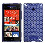 Asmyna HTCWIN8XCASKCA036 Argyle Slim and Durable Protective Cover for HTC Windows Phone 8X - 1 Pack - Retail Packaging - Clear