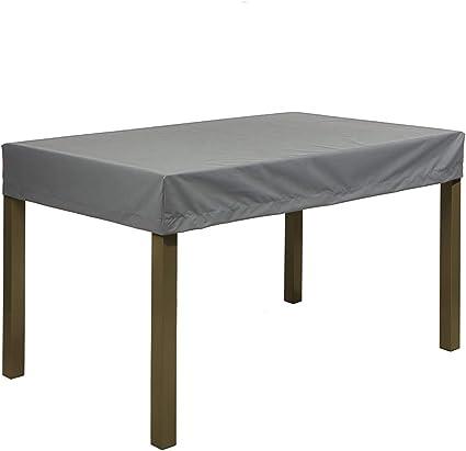 planesium housse pour table de jardin housse de protection bache impermeable pour meubles jardin et hivernage mobilier salon de jardin 575g m 150cm x